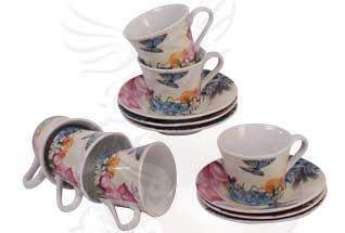 Набор: 6 кофейных чашек (70 мл), 6 блюдец
