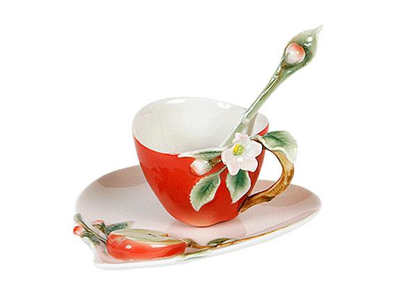 Чашка с блюдцем и ложкой