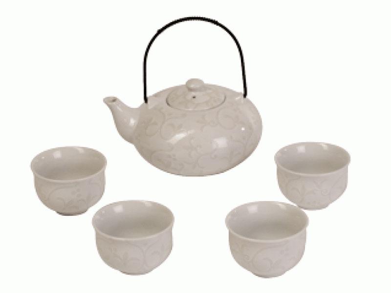 Набор чайный «Сайтама» Чайник (800 мл) 4 пиалы (150 мл)
